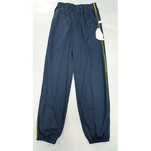 【MIT】台灣製造工作運動褲【6918-3-M】 束口褲管-藍色 側邊細黃條●夏季限定≡輕薄【 守門員】