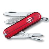 瑞士 維氏 Victorinox 經典 7用瑞士刀 透明握柄系列 0.6223.T『透明紅』 露營│登山