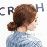 假發女低丸子頭花苞頭全真發發圈蓬松自然發包日韓風古裝造型盤發