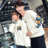 情侶裝 情侶裝秋裝2020韓版新款學生男女長袖套頭加絨上衣寬鬆bf外套衛衣 中秋降價