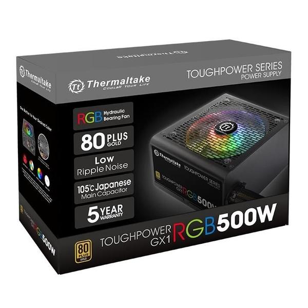 曜越 Toughpower GX1 RGB 500W 金牌 電源供應器