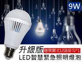 升級版LED智慧緊急照明燈泡9W