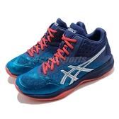 【六折特賣】Asics 排羽球鞋 Netburner Ballistic FF MT 藍 銀 男鞋 女鞋 中筒 運動鞋 緩震【ACS】 1051A003400