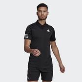 ADIDAS CLUB 3STR 男款黑色POLO 短袖上衣-NO.GL5421