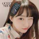 Queen Shop【07090227】彩色一字夾 10色50支一組售*現+預*
