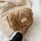 秋冬上新毛毛小包包女新款潮韓版百搭斜挎包鏈條包時尚小方包伊莎公主