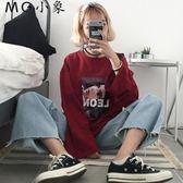 韓版原宿人物印花學生長袖T恤