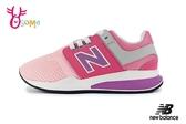 New Balance 247 女童運動鞋 中童 鬆緊帶 慢跑鞋 O8427#粉紅◆OSOME奧森鞋業