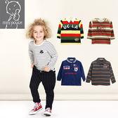 毛圈材質 上衣 T恤 長袖上衣 法國品牌 mini pouce 正品 男童 拼色 上衣