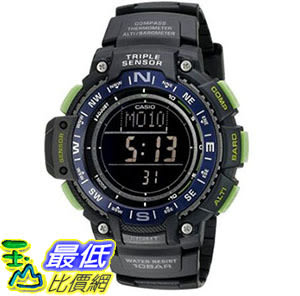 [美國直購] 手錶 Casio Mens SGW-1000-2BCF Triple Sensor Digital Display Quartz Black Watch