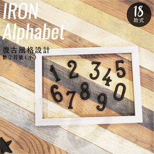 工業風 鑄鐵 數字符號 - 小 日式雜貨 招牌 門牌 看板9