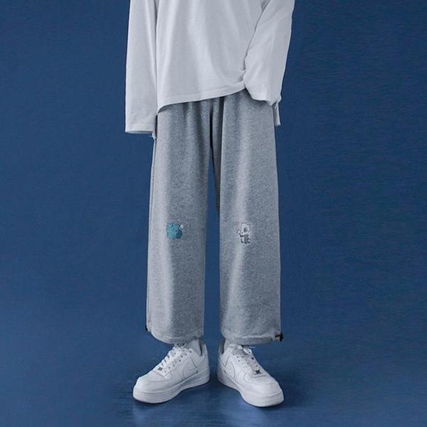 寬管褲 褲子女寬鬆直筒新款百搭顯瘦闊腿秋冬加絨加厚束腳褲 【618特惠】