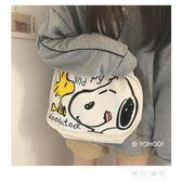 帆布袋-YOHOO! /ins日韓卡通涂鴉可愛史努比插畫單肩帆布包購物袋學生女 東川崎町
