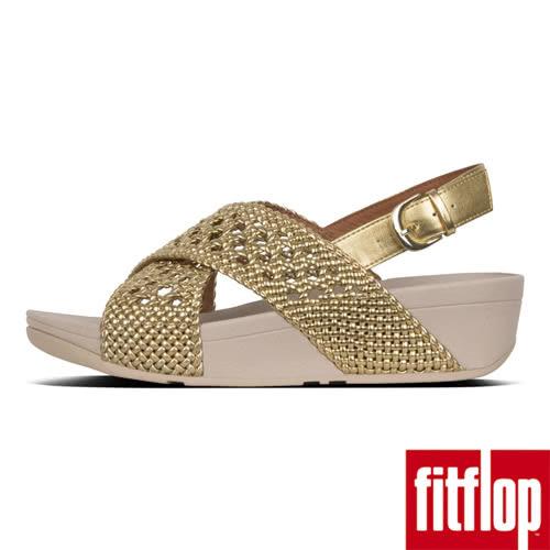 【FitFlop】LULU WICKER WEAVE BACK-STRAP SANDALS(黃金色)限時回饋66折