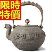 日本鐵壺-無塗層內壁南部鐵器鑄鐵龍嘴茶壺 64aj26【時尚巴黎】