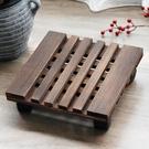 帶輪花盆托盤底座滾輪萬向輪可移動實木大托架長方形加厚底盤墊底