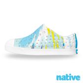 native 小童鞋 JEFFERSON 小奶油頭鞋-潑彩藍