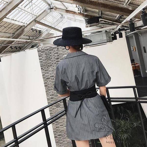 寬邊腰封女百搭時尚個性女士腰帶裝飾皮帶寬邊腰封【1件免運】
