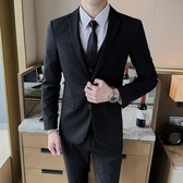 西裝外套 西服套裝男士外套上衣青年正韓修身商務 【免運86折】