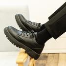 皮鞋 新款皮鞋男韓版潮流百搭帥氣鞋子男繫帶休閒青少年英倫黑色小皮鞋