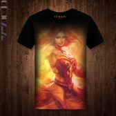 2017新品DOTA2印花T恤 火女周邊服飾 電競游戲刀塔戰隊夏裝上衣