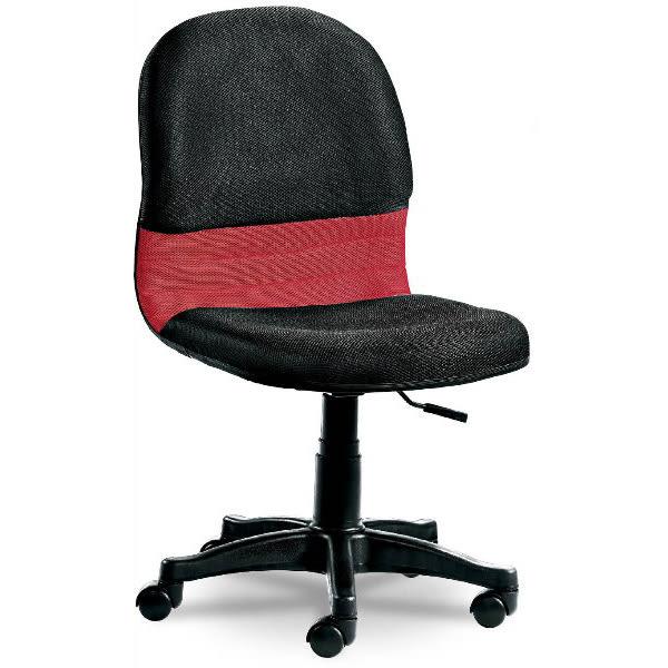 電腦椅 辦公椅 FB-288-1 黑紅氣壓小網椅 (無扶手) 【大眾家居舘】