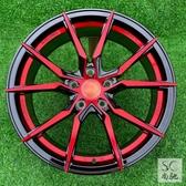 汽車改裝輪轂1415寸16寸17寸18寸鋁合金輪輞轱轆胎鈴鋼圈紅色時尚 YXS 繽紛創意家居