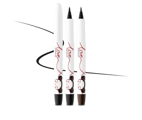 【限時出清】韓國 Karadium X PUCCA 中國娃娃聯名限量款防水眼線液筆 (咖啡/黑色)