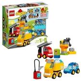 積木得寶系列10816我的一組汽車與卡車套裝大顆粒積木玩具xw