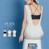 (現貨)PUFII-小可愛 雙細肩帶美背交叉背心小可愛 3色-0426 現+預 春【CP14493】