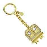 【南紡購物中心】MICHAEL KORS ZODIAC CHARMS水晶鑰匙圈-雙子座/金