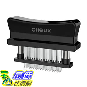 [106美國直購] 嫩肉器 Meat Tenderizer Choux 48 Ultra Sharp Stainless Steel Blades, Hand Held Tenderizer