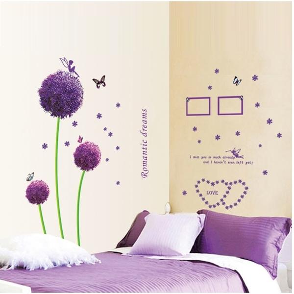 壁貼-紫色蒲公英 AY9015-165【AF01013-165】99愛買小舖