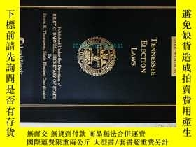 二手書博民逛書店Tennessee罕見Election Laws 2005 ED