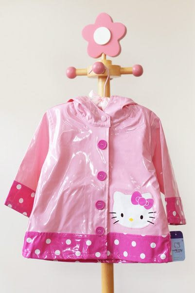 兒童雨衣 / 凱蒂貓 Hello Kitty 粉紅水玉點點兒童雨衣 Western Chief Pink Hellow Kitty City Raincoat