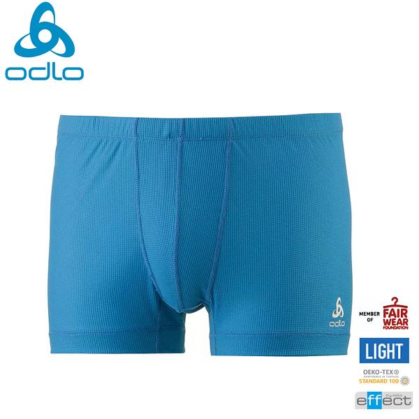 【ODLO 瑞士 男 CUBIC四角內褲《星雲藍》】191122/銀離子/排汗內褲/平口褲/衛生褲