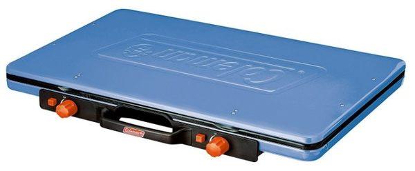 【偉盟公司貨】丹大戶外【Coleman】美國7000kcal 輕薄雙口瓦斯爐 CM-31232 清澈藍