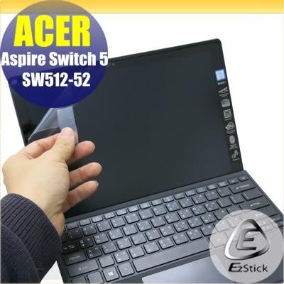 【Ezstick】ACER Swirch 5 SW512-52 靜電式筆電LCD液晶螢幕貼 (可選鏡面防汙或高清霧面)