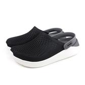 Crocs 休閒鞋 涼鞋 防水 黑/灰 男女鞋 204592-05M no022