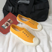 X-INGCHI 女款黃色輕巧帆布懶人鞋-NO.X0224