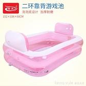 兒童充氣家庭游泳池嬰幼兒戲水池成人浴缸 全館新品85折