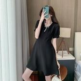 2020新款夏季女裝輕熟風氣質洋氣女神范衣服心機小黑裙赫本連身裙衣裙 居享優品