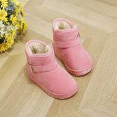 雪靴兒童雪地靴棉冬鞋新款加絨女童短靴男童寶寶中筒靴棉鞋子【百姓公館】