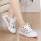 大童兒童鞋子季女童女孩子小學生運動休閒白色板鞋12-15歲帆布。