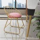 化妝凳 現代簡約蝴蝶結化妝梳妝凳靠背美甲椅子臥室ins北歐少女凳子YTL-芭蕾朵朵
