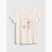 Gap女幼棉質童趣印花圓領短袖T恤539785-女孩圖案