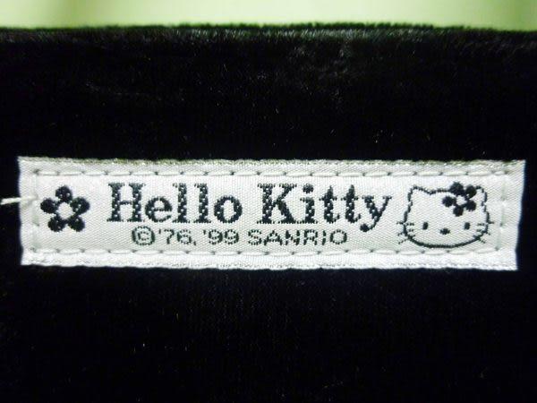 【震撼精品百貨】Hello Kitty 凱蒂貓~硬底方型手提袋『黑絨毛』M