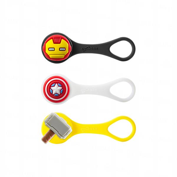Marvel Q Cord Ties復仇者聯盟線材收納束帶逗扣Q束繩三件組