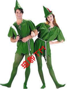 COS萬聖節綠色精靈綠羅賓小飛俠