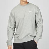 Nike Club Hoodie 男子 灰色 棉質 刺繡 保暖 長袖 大學T BV2667-063